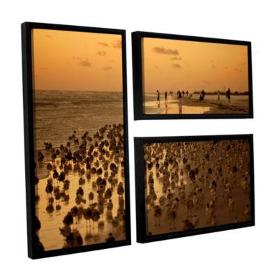 Brushstone 0807a 3-pc. Flag Floater Framed CanvasWall Art