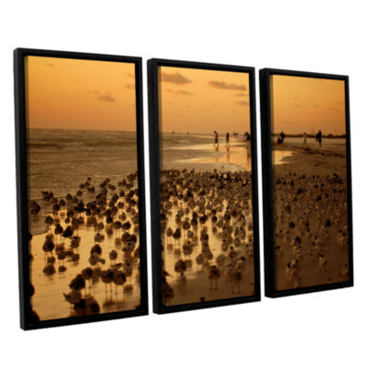 Brushstone 0807a 3-pc. Floater Framed Canvas WallArt