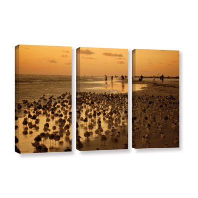 Brushstone 0807a 3-pc. Gallery Wrapped Canvas WallArt