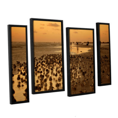 Brushstone 0807a 4-pc. Floater Framed Staggered Canvas Wall Art