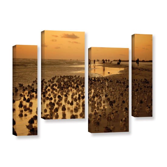 Brushstone 0807A 4-pc. Gallery Wrapped Staggered Canvas Wall Art