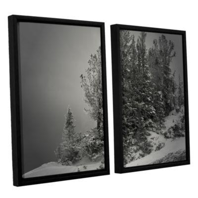 Brushstone 10 000 Feet of Silence 2-pc. Floater Framed CanvasWall Art