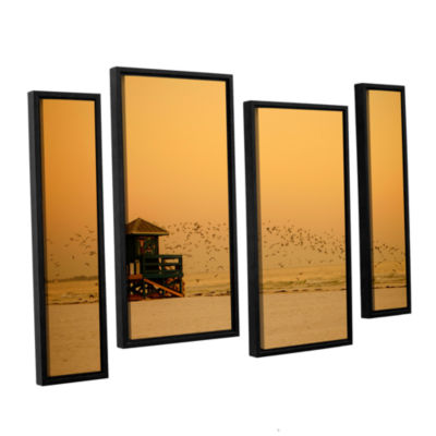 Brushstone 1095aa 4-pc. Floater Framed Staggered Canvas Wall Art