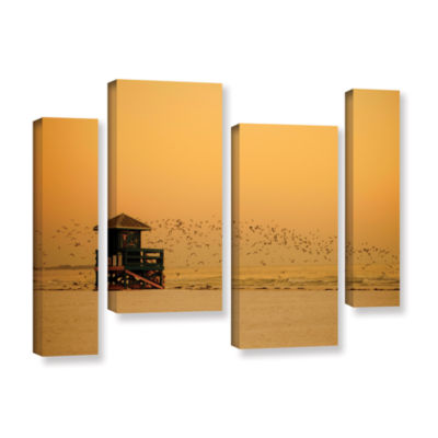 Brushstone 1095aa 4-pc. Gallery Wrapped StaggeredCanvas Wall Art