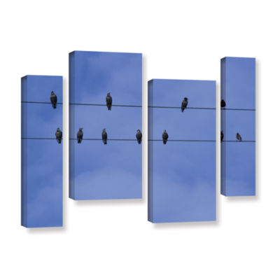 Brushstone 1513A1 4-pc. Gallery Wrapped StaggeredCanvas Wall Art