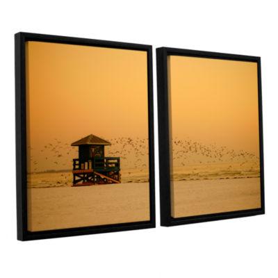 Brushstone 1095AA 2-pc. Floater Framed Canvas WallArt