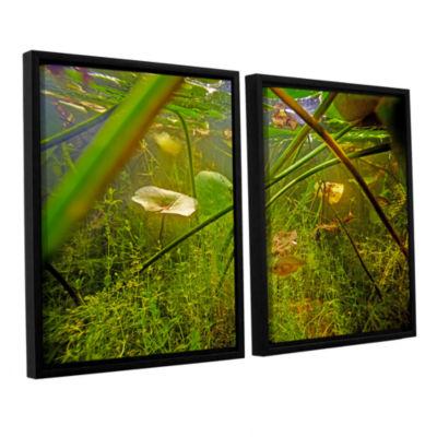 Brushstone Butler Lake #5 2-pc. Floater Framed Canvas Wall Art