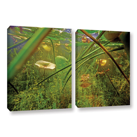 Brushstone Butler Lake #5 2-pc. Gallery Wrapped Canvas Wall Art