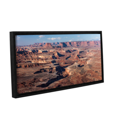 Brushstone Canyonlands Panoramic Gallery Wrapped Floater-Framed Canvas Wall Art