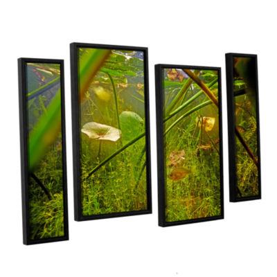 Brushstone Butler Lake #5 4-pc. Floater Framed Staggered Canvas Wall Art
