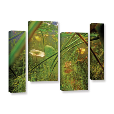 Brushstone Butler Lake #5 4-pc. Gallery Wrapped Staggered Canvas Wall Art