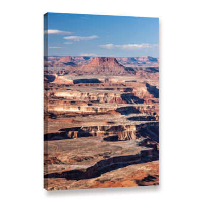 Brushstone Canyonlands Vertical Gallery Wrapped Canvas Wall Art