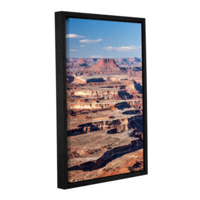 Brushstone Canyonlands Vertical Gallery Wrapped Floater-Framed Canvas Wall Art