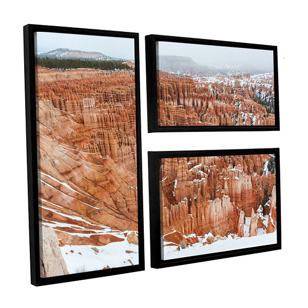 Brushstone Bryce Canyon 3-pc. Flag Floater Framed Canvas Wall Art