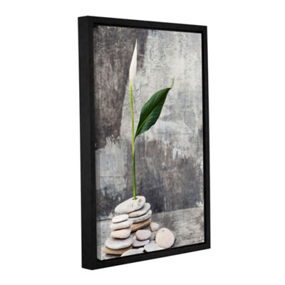 Brushstone Calla Lilly Gallery Wrapped Floater-Framed Canvas Wall Art