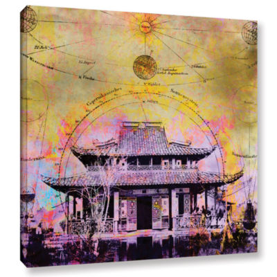 Brushstone Celestial Temple Gallery Wrapped CanvasWall Art