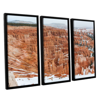 Brushstone Bryce Canyon 3-pc. Floater Framed Canvas Wall Art