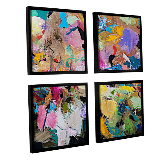 Brushstone Capri 4-pc. Square Floater Framed Canvas Wall Art