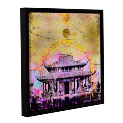 Brushstone Celestial Temple Gallery Wrapped Floater-Framed Canvas Wall Art