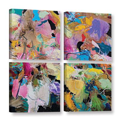 Brushstone Capri 4-pc. Square Gallery Wrapped Canvas Wall Art