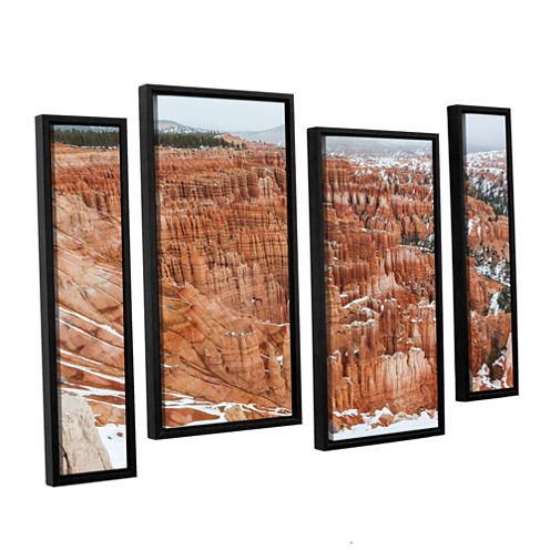 Brushstone Bryce Canyon 4-pc. Floater Framed Staggered Canvas Wall Art