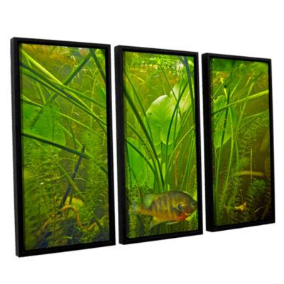 Brushstone Butler Lake #8 3-pc. Floater Framed Canvas Wall Art