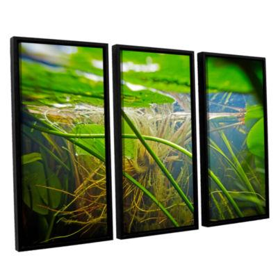 Brushstone Butler Lake #9 3-pc. Floater Framed Canvas Wall Art