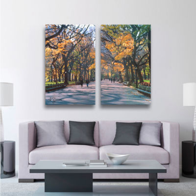 Brushstone Central Park 2-pc. Gallery Wrapped Canvas Wall Art