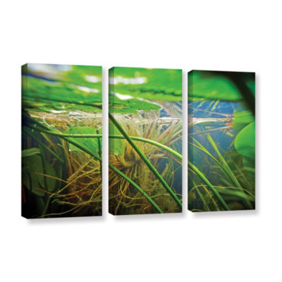 Brushstone Butler Lake #9 3-pc. Gallery Wrapped Canvas Wall Art