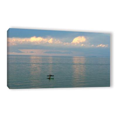 Brushstone Calm Kayaks Gallery Wrapped Canvas WallArt