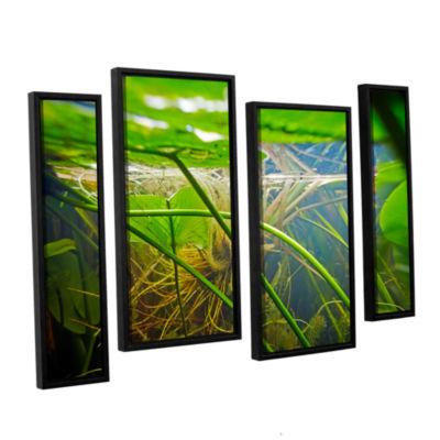 Brushstone Butler Lake #9 4-pc. Floater Framed Staggered Canvas Wall Art