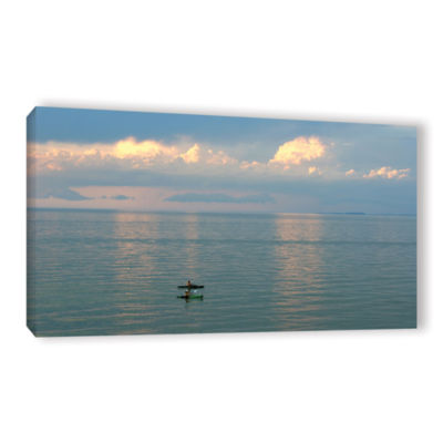 Brushstone Calm Kayaks Gallery Wrapped Canvas WallArt
