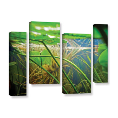 Brushstone Butler Lake #9 4-pc. Gallery Wrapped Staggered Canvas Wall Art