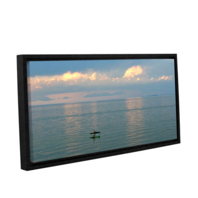 Brushstone Calm Kayaks Gallery Wrapped Floater-Framed Canvas Wall Art