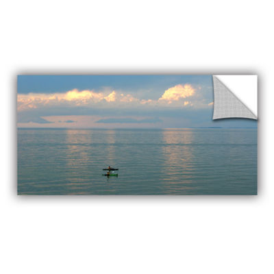 Brushstone Calm Kayaks Removable Wall Decal