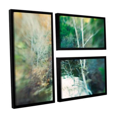 Brushstone Calm River 3-pc. Flag Floater Framed Canvas Wall Art