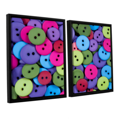 Brushstone Buttons 2-pc. Floater Framed Canvas Wall Art
