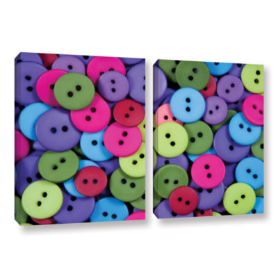 Brushstone Buttons 2-pc. Gallery Wrapped Canvas Wall Art