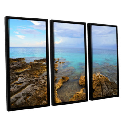 Brushstone Caribbean Dreams 3-pc. Floater Framed Canvas Wall Art