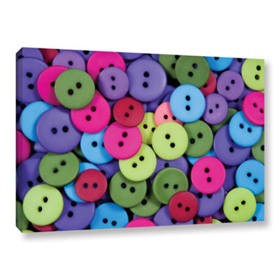 Brushstone Buttons Gallery Wrapped Canvas Wall Art