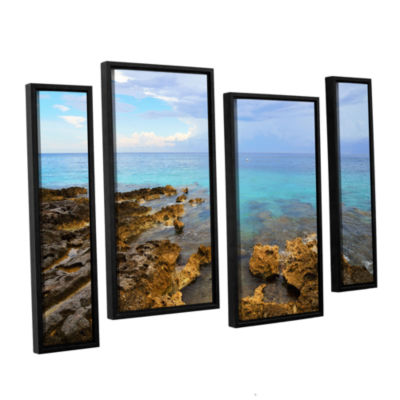 Brushstone Caribbean Dreams 4-pc. Floater Framed Staggered Canvas Wall Art