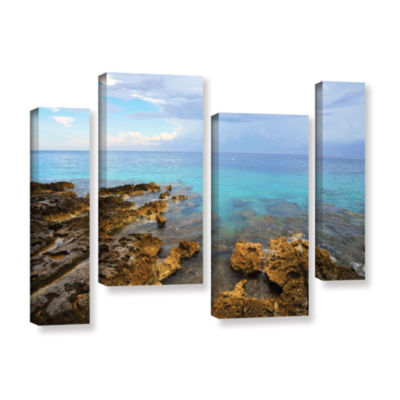 Brushstone Caribbean Dreams 4-pc. Gallery Wrapped Staggered Canvas Wall Art