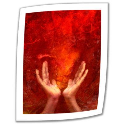 Brushstone Chakra Fire Canvas Wall Art