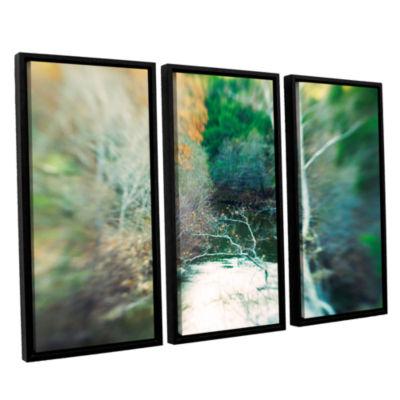 Brushstone Calm River 3-pc. Floater Framed CanvasWall Art