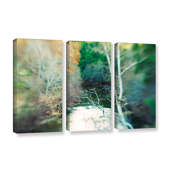 Brushstone Calm River 3-pc. Gallery Wrapped CanvasWall Art