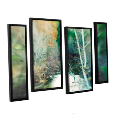 Brushstone Calm River 4-pc. Floater Framed Staggered Canvas Wall Art