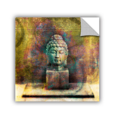 Brushstone Buddha (Mixed Media) Removable Wall Decal