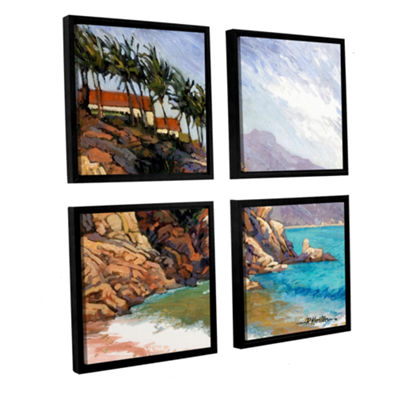 Brushstone Cabo San Lucas 4-pc. Square Floater Framed Canvas Wall Art