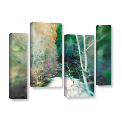 Brushstone Calm River 4-pc. Gallery Wrapped Staggered Canvas Wall Art