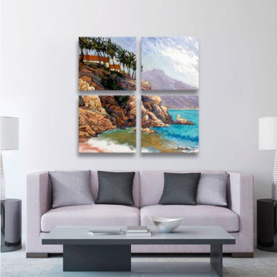 Brushstone Cabo San Lucas 4-pc. Square Gallery Wrapped Canvas Wall Art